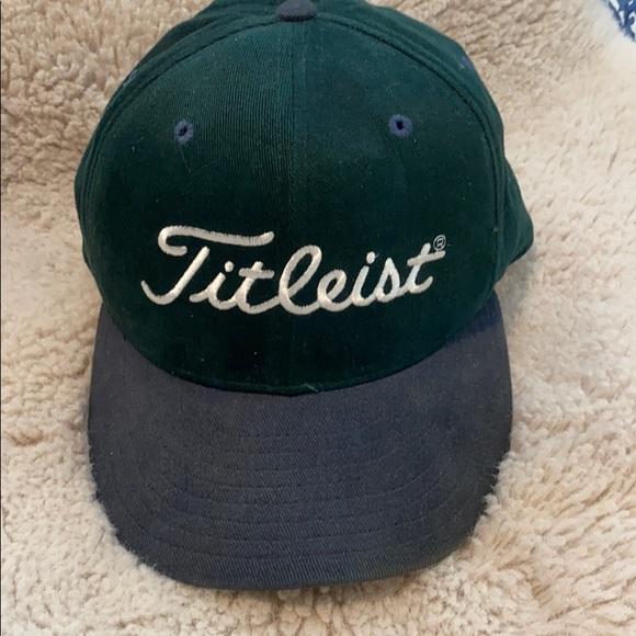 Titleist Hat, Dark Green with Blue Bill